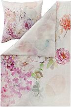 BETTWÄSCHE Makosatin Multicolor, Rosa, Weiß