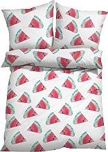 Bettwäsche Melone, pink (1x 80/80cm, 1x 135/200cm)