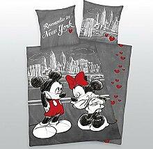 Bettwäsche Mickey + Minnie Mouse Maus New York