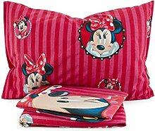 Bettwäsche Minnie Mouse Disney Biber Einzelbett
