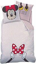 Bettwäsche Minnie Mouse weiß rot 135 x 200 cm,