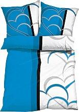 Bettwäsche mit Herzen, blau (2x 80/80cm, 2x