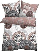 Bettwäsche mit Ornamenten, grau (2x 80/80cm, 2x