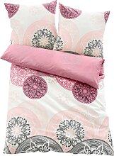 Bettwäsche mit Ornamenten, rosa (2x 80/80cm, 2x