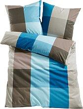 Bettwäsche Nizza, blau (1x 80/80cm, 1x 135/200cm)