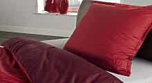 Bettwäsche rot, 80x80 +155x220 cm