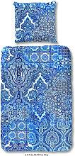 BETTWÄSCHE Satin Blau 135/200 cm