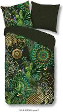 BETTWÄSCHE Satin Grün, Multicolor 200/200 cm