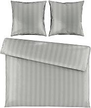 BETTWÄSCHE Satin Silberfarben 200/200 cm