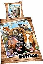Bettwäsche Selfies Pferde, Kopfkissenbezug