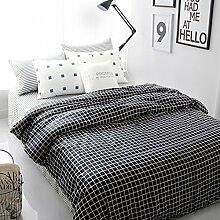 Bettwäsche set 100% Baumwolle amerikanischen europäischen stil 4 Pieces bedding collection quilt abdeckung bett sheet lattice-A Queen2