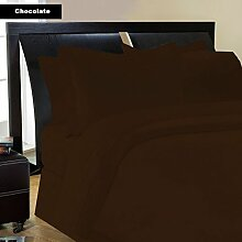 Bettwäsche Set-7Pc 600tc Italienisches Finish braun/schokolade Farbe uk-small Double Größe 100% ägyptische Baumwolle–Durch Paradies Overseas