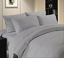Bettwäsche Set-7Pc 600tc Italienisches Finish hellgrau Farbe Euro Small Single Größe 100% ägyptische Baumwolle–Durch Paradies Overseas