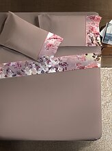 Bettwäsche Set  Armonie Flora Farbe taubengrau 260x290cm