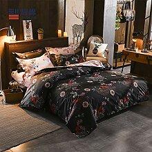 Bettwäsche Set - Bettbezug mit Reißverschluss -