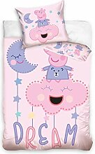 Bettwäsche Set PEPPA PIG 100x135 + 40x60 cm DREAM