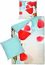 Bettwäsche-Set TeaTime aus 100% Mako-Baumwolle Größe: 155 x 220cm