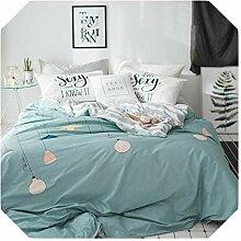 Bettwäsche-Set, Übergröße, Khaki, Baumwolle,
