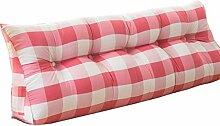 Bettwäsche / Sofa / Lendenwirbelkissen Doppelbett Großes Dreieck Kissen / Kissen mit abnehmbarem Bezug, im Bett / Sofa / Büro / Haus / Auto, die für Lenden- / Rückenlehne / Lesekissen, rosa und weißes Gitter verwendet werden kann lhl-Standard-Füllung Kissen ( größe : 100*50*22cm )