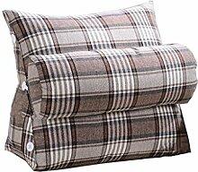 Bettwäsche / Sofa / Lendenwirbelkissen Dreieck Kissen / Kissen mit abnehmbarem Deckel und Nackenkissen, im Bett / Sofa / Büro / Haus / Auto, die für Lenden- / Rückenlehne / Lesekissen, Braunlinien verwendet werden kann lhl-Standard-Füllung Kissen ( größe : 45*45*20cm )