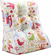 Bettwäsche / Sofa / Lendenwirbelkissen Dreieck Kissen / Kissen mit abnehmbarem Bezug, im Bett / Sofa / Auto / Büro / Haus, die für Lenden- / Taille / Rückenlehne / Lesekissen, Vogel verwendet werden kann lhl-Standard-Füllung Kissen ( größe : 45*55*30cm )