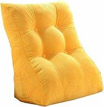 Bettwäsche / Sofa / Lendenwirbelkissen Dreieck Kissen / Kissen mit abnehmbarem Bezug, im Bett / Sofa / Auto / Büro / Haus, die für Lenden- / Taille / Rückenlehne / Lesekissen, gelb verwendet werden kann lhl-Standard-Füllung Kissen ( größe : 45*55*30cm )