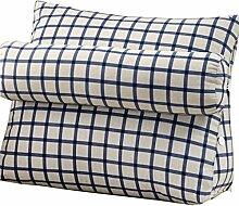 Bettwäsche / Sofa / Lendenwirbelkissen Dreieck Kissen / Kissen mit abnehmbarem Deckel und Nackenkissen, im Bett / Sofa / Büro / Haus / Auto, das für Lenden- / Rückenlehne / Lesekissen, Schwarz-Weiß-Streifen verwendet werden kann lhl-Standard-Füllung Kissen ( größe : 60*50*22cm )