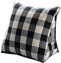 Bettwäsche / Sofa / Lendenwirbelkissen Dreieck Kissen / Kissen mit abnehmbarem Bezug, im Bett / Sofa / Auto / Büro / Haus, die für Lenden- / Taille / Rückenlehne / Lesekissen, Schwarz-Weiß-Gitter verwendet werden kann lhl-Standard-Füllung Kissen ( größe : 1.5kg )