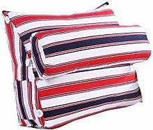 Bettwäsche / Sofa / Lendenwirbelkissen Dreieck Kissen / Kissen mit abnehmbarem Deckel und Nackenkissen, im Bett / Sofa / Büro / Haus / Auto, die für Lenden- / Rückenlehne / Lesekissen, Streifen verwendet werden kann lhl-Standard-Füllung Kissen ( größe : 45*50*22cm )