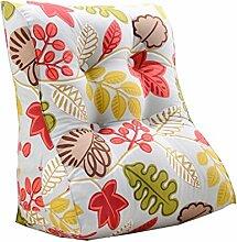 Bettwäsche / Sofa / Lendenwirbelkissen Dreieck Kissen / Kissen mit abnehmbarem Bezug, im Bett / Sofa / Auto / Büro / Haus, die für Lenden- / Taille / Rückenlehne / Lesekissen, ländlich verwendet werden kann lhl-Standard-Füllung Kissen ( größe : 45*55*30cm )