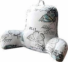 Bettwäsche / Sofa / Lendenwirbelkissen Kissen / Kissen mit abnehmbarem Bezug, im Bett / Sofa / Auto / Büro / Haus, die für Lenden- / Taille / Rückenlehne / Lesekissen, weißer Schmetterling verwendet werden kann lhl-Standard-Füllung Kissen