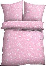 Bettwäsche Stars, rosa (2x 80/80cm, 2x 135/200cm)