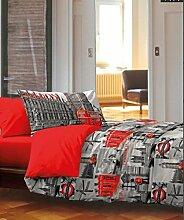 Bettwäsche Store Quilt City London UK Grau Rot
