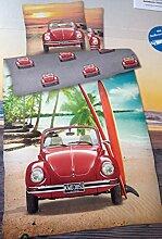 Bettwäsche VW Käfer Beetle Strand Palmen Bezug