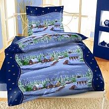 Bettwäsche Weihnachten Winterlandschaft