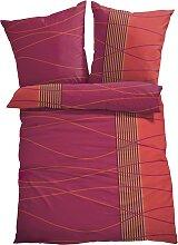 Bettwäsche Welle, rot (1x 80/80cm 1x 135/200cm)