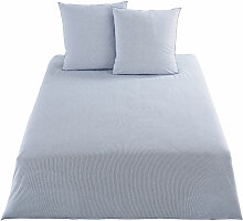 Bettwäschegarnitur aus Baumwoll-Webstoff, blau