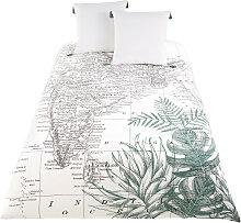 Bettwäschegarnitur aus Baumwolle, bedruckt mit