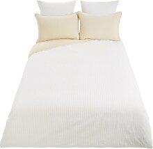 Bettwäschegarnitur aus weißer Baumwolle 220x240