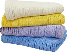 BettwarenShop Baumwolldecke in Häkeloptik für