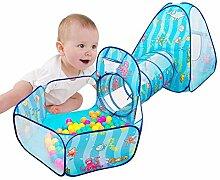 Bettying Kinder Pop Up Spielzelt mit Kriechtunnel