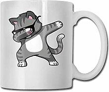 Betupfen Katze Hip Hop Mode Kaffeetasse Porzellan
