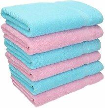 Betz 6 TLG. Handtuch Set Palermo Farbe rosé &