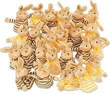 Betzold Osterhasen-Eierwärmer, 25 Stück, Ostern, Dekoartikel, in braun und gelb, ideale Geschenkidee - Kinder Krippe Ostern Hasen Ostereier Ostergeschenk Kindergarten Gruppen Kinderkrippe