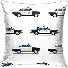 Beu Time Police Cars Pattern Dekokissen Covers