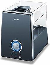 Beurer LB 88 Luftbefeuchter, mikrofeine Zerstäubung mit Ultraschall, bakterienarm, für Räume bis 48 m², schwarz