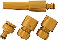 Bewässerungs Set gold 4-teilig Anschluss Adapter Schlauch Ku