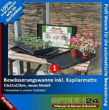 Bewässerungs-Wanne inkl. GREEN24 Kapillar-Matte automatische Bewässerung für Topfplatten