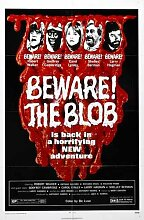 Beware Blob Poster 01 Metal Sign A4 12x8 Aluminium