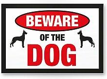 Beware of the dog (weiß-schwarz) - Hunde